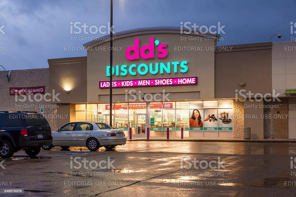 dd's Discounts store stock photo