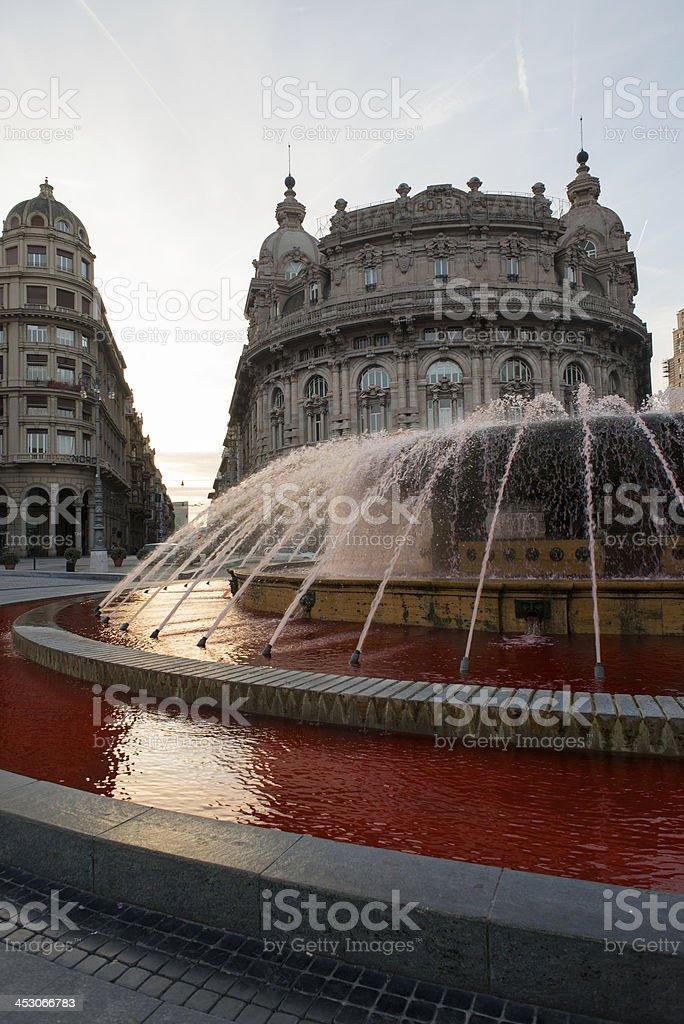 De Ferrari square, Genoa in Italy. royalty-free stock photo