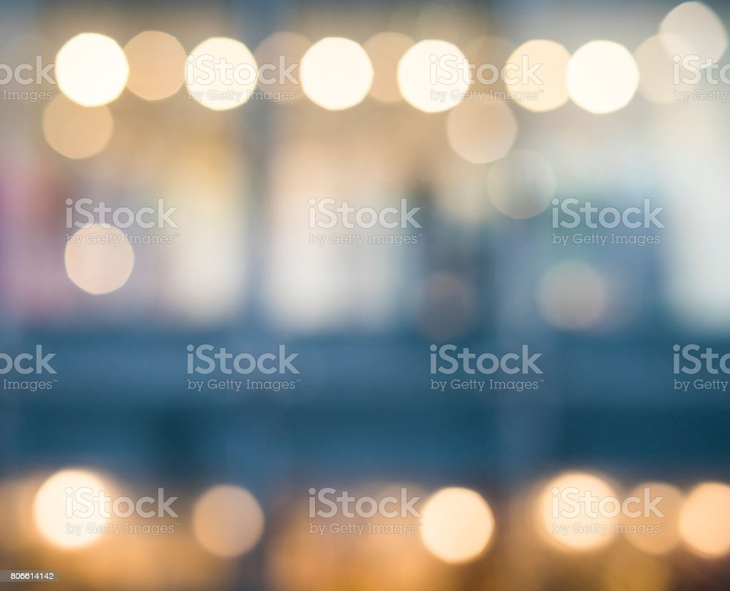 de focused bokeh light, abstract background at night photo