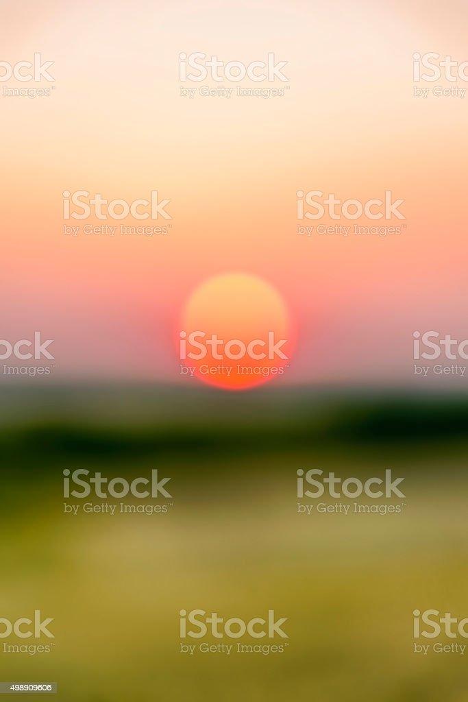 De focused sunset background stock photo