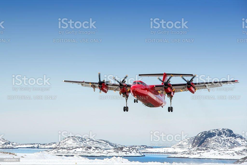 de Havilland Canada Dash 7 from Air Greenland stock photo