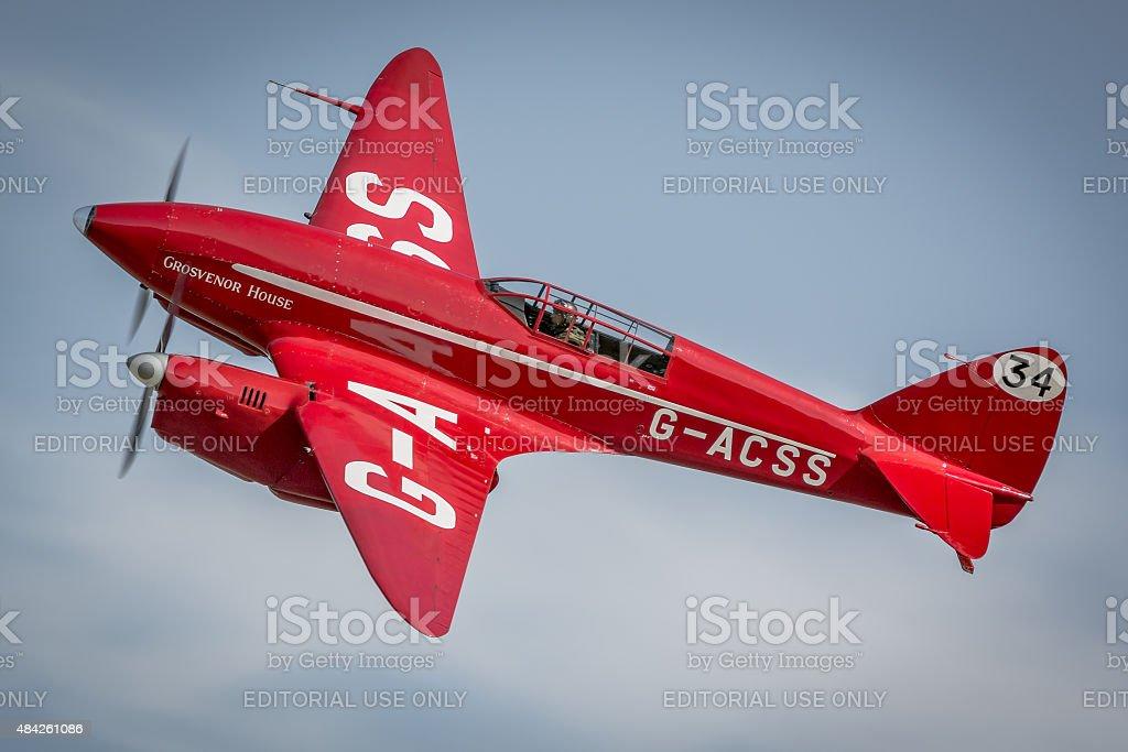 De Havilland Comet 1930s racing aircraft stock photo
