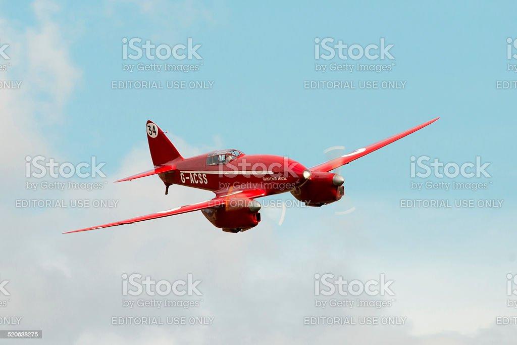 De Havilland DH88 Comet Racer stock photo