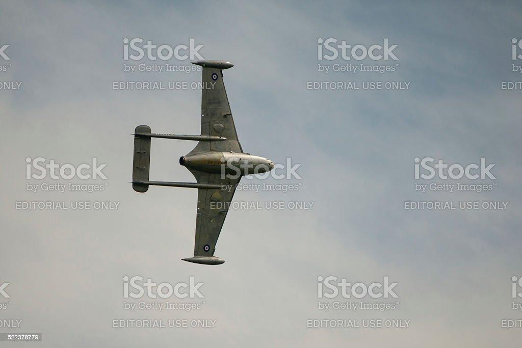 De Havilland Venom jet fighter stock photo