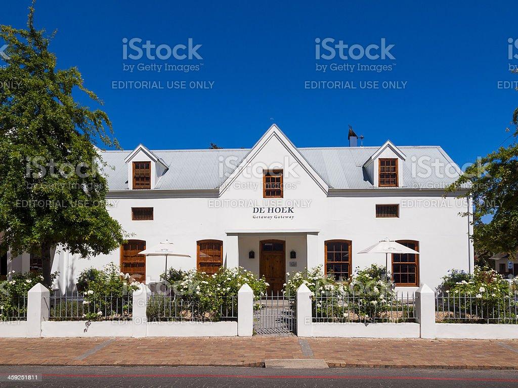 De Hoek Manor in Stellenbosch, South Africa royalty-free stock photo