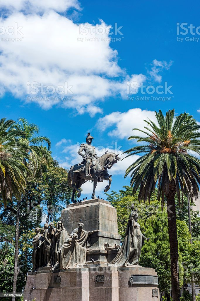 9 de Julio Square in Salta, Argentina stock photo