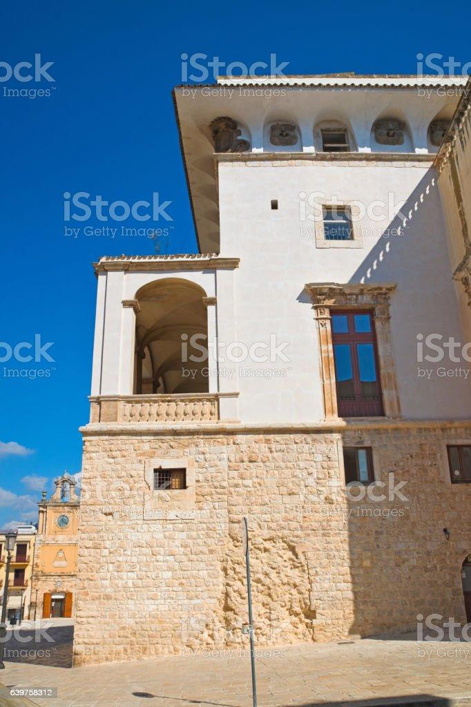 De Mari Palace. Acquaviva delle fonti. Puglia. Italy. stock photo