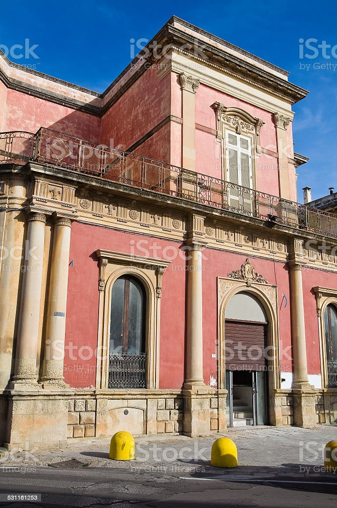 De Paolo Palace. Galatone. Puglia. Italy. stock photo