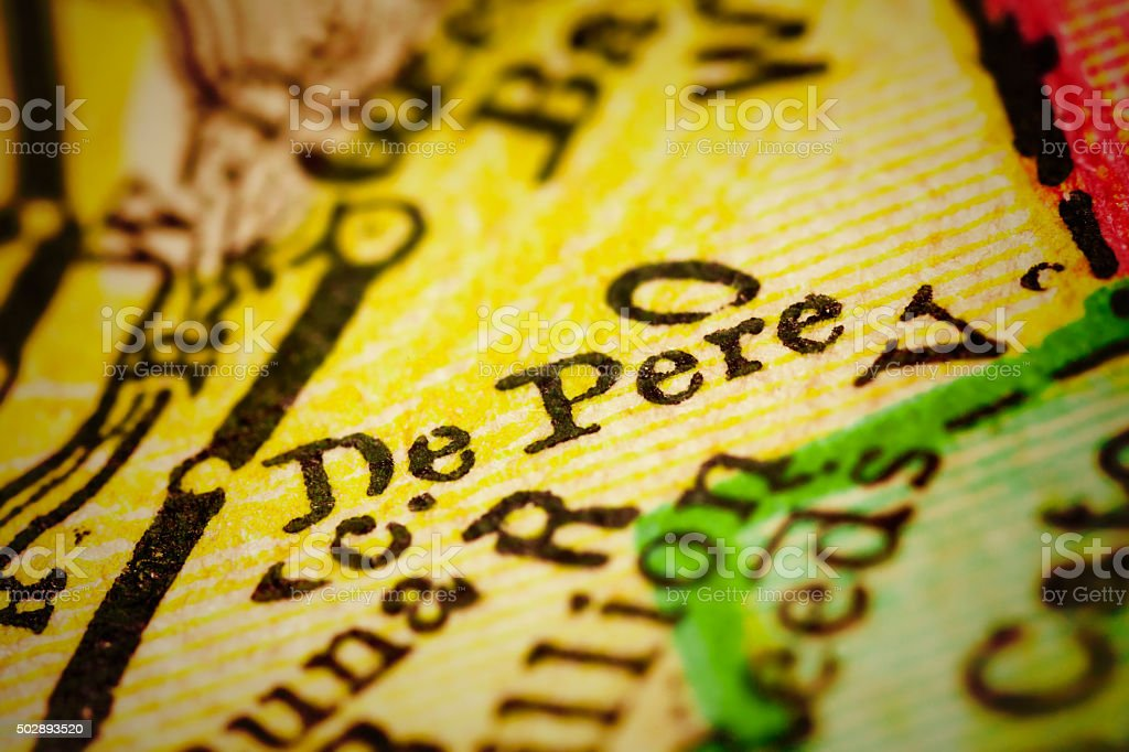 De Pere, Wisconsin on an Antique map stock photo