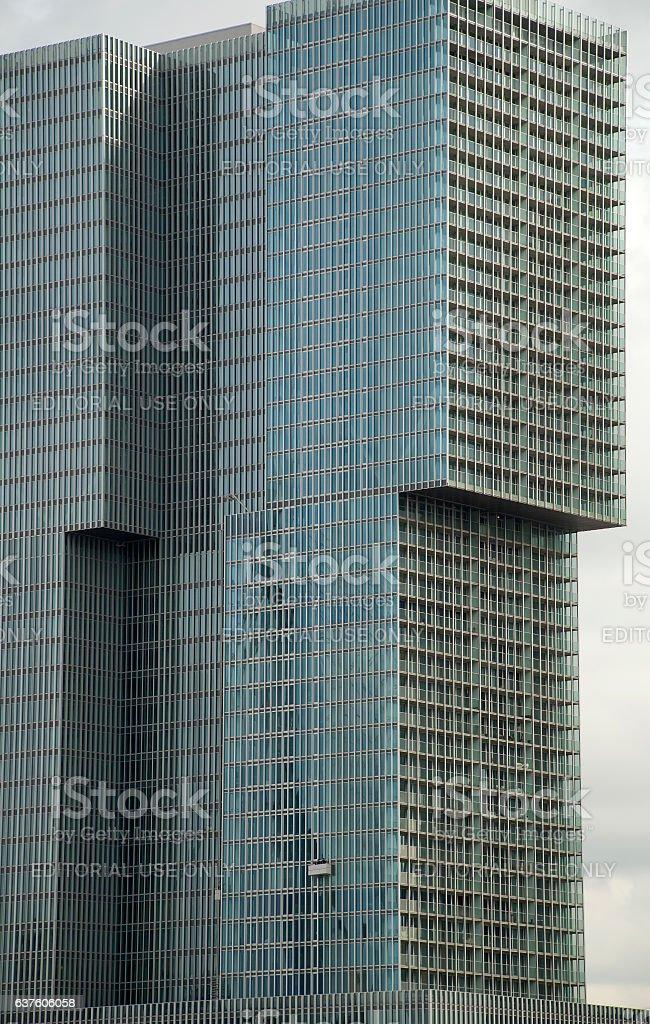 De Rotterdam building, the Netherlands stock photo
