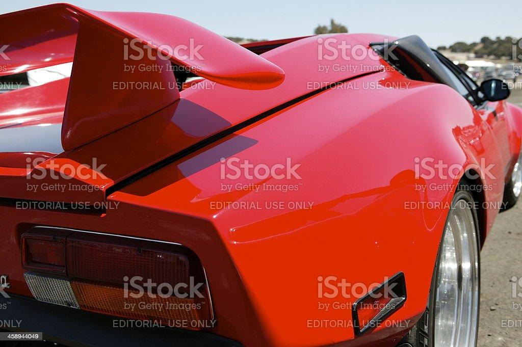 De Tomaso Pantera rear closeup stock photo