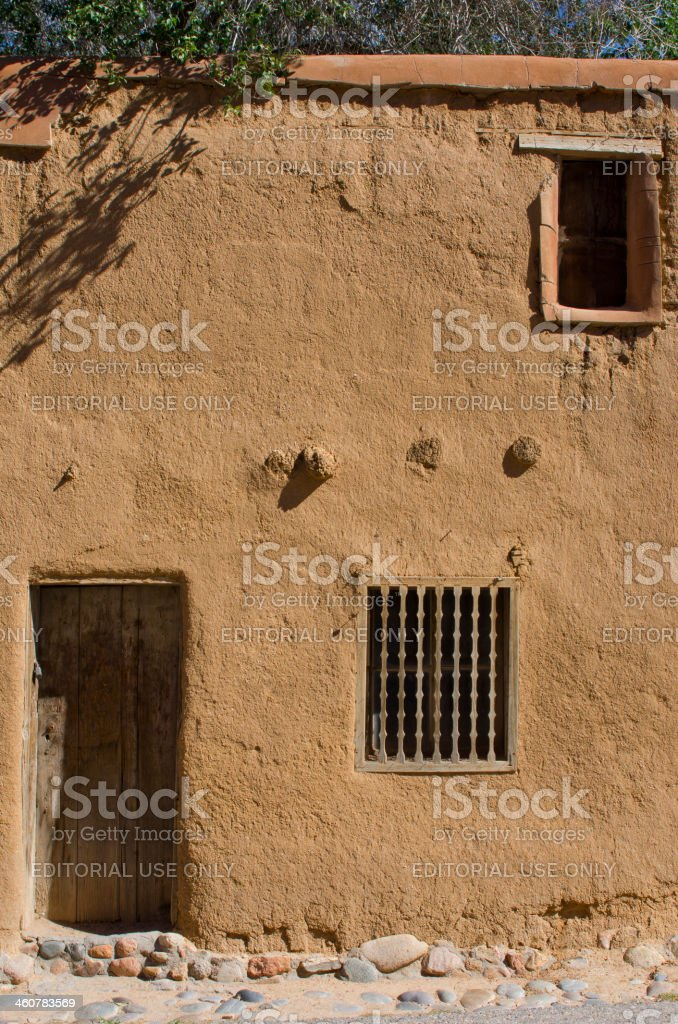 De Vargas House in Santa Fe, New Mexico stock photo