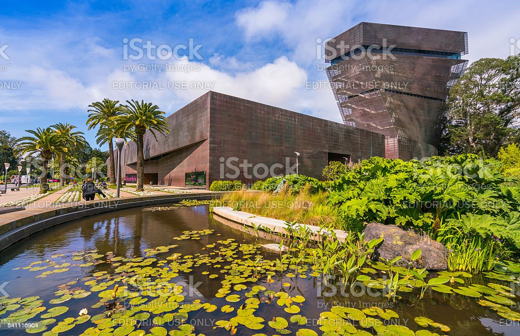 de young,Fine Arts Museums of San Francisco,California,usa. stock photo