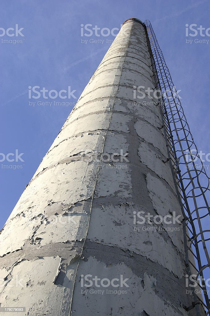 Deactivated Smoke Stack stock photo