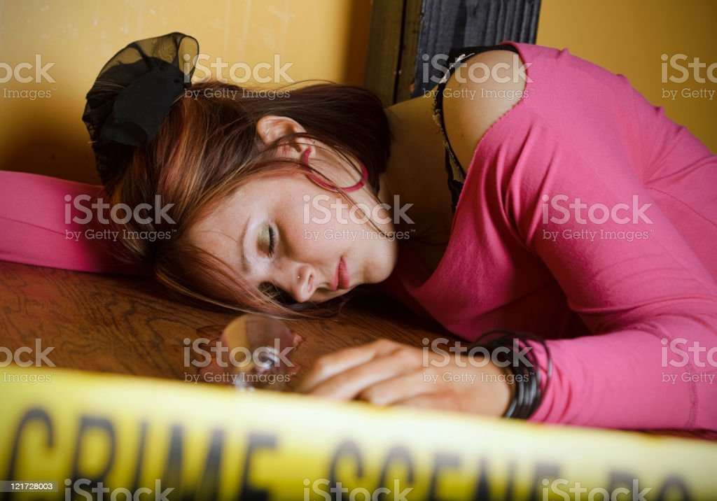 Dead Body Crime Scene stock photo