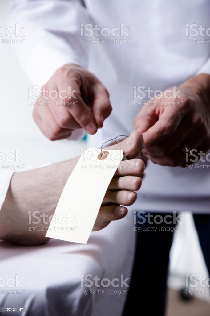 Dead Body in Morgue royalty-free stock photo