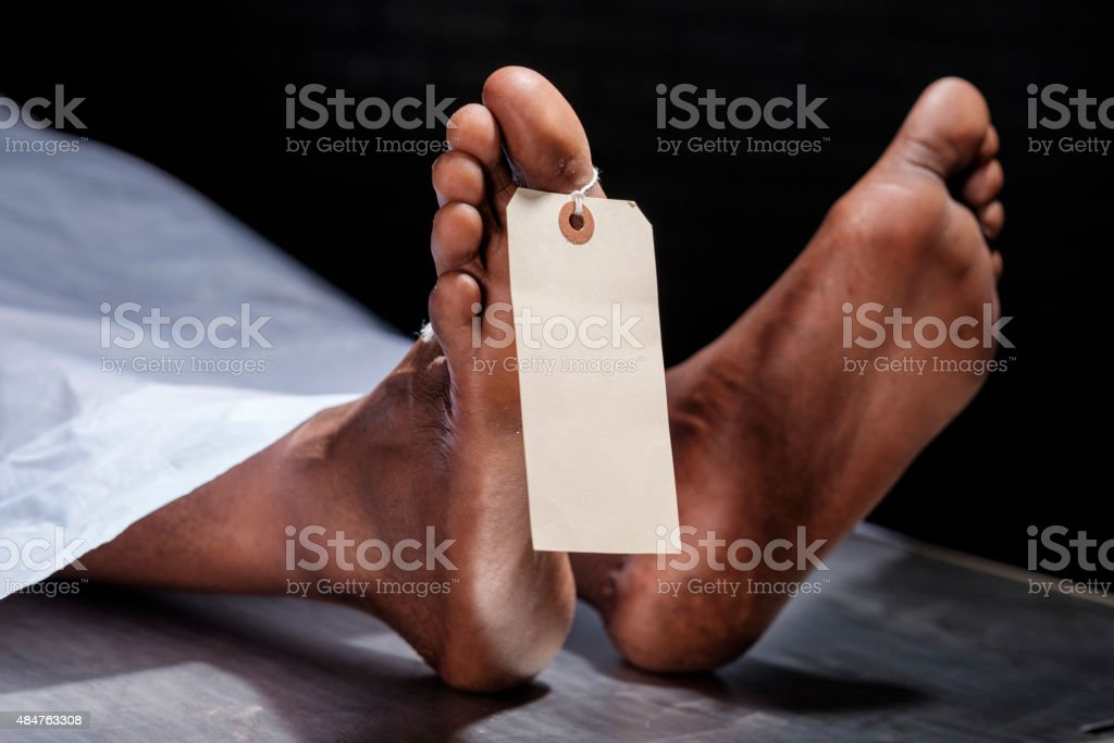 Dead Body stock photo