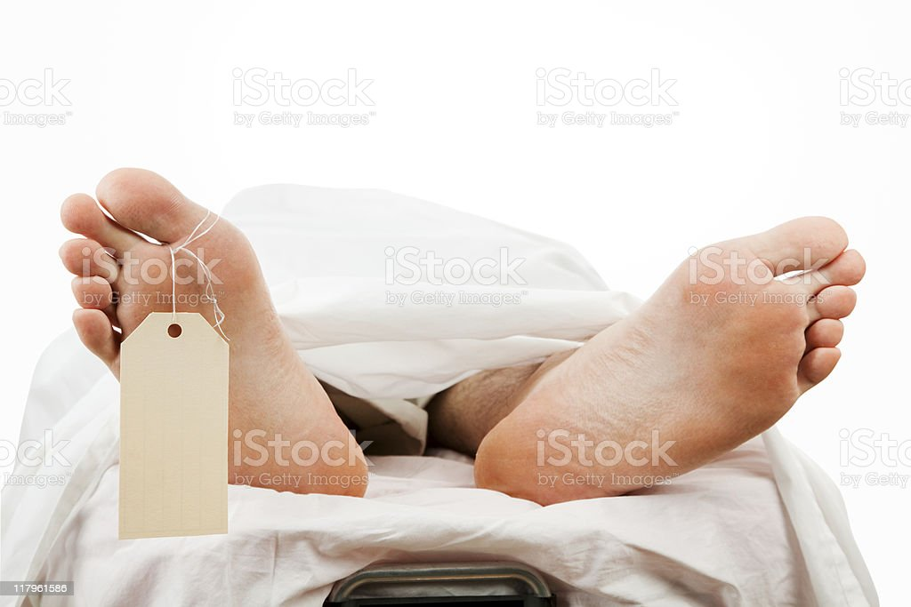 Dead Body with Clipping Path stock photo