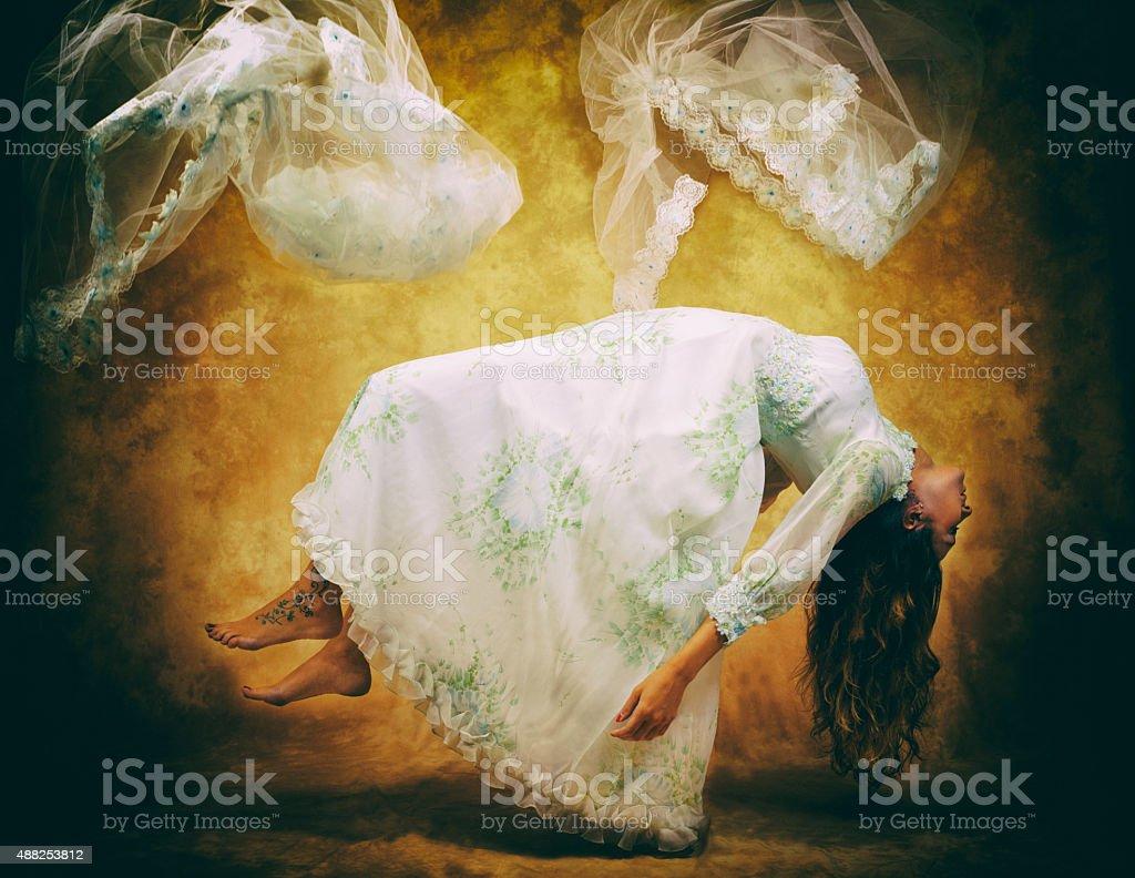 dead bride. Color Image stock photo
