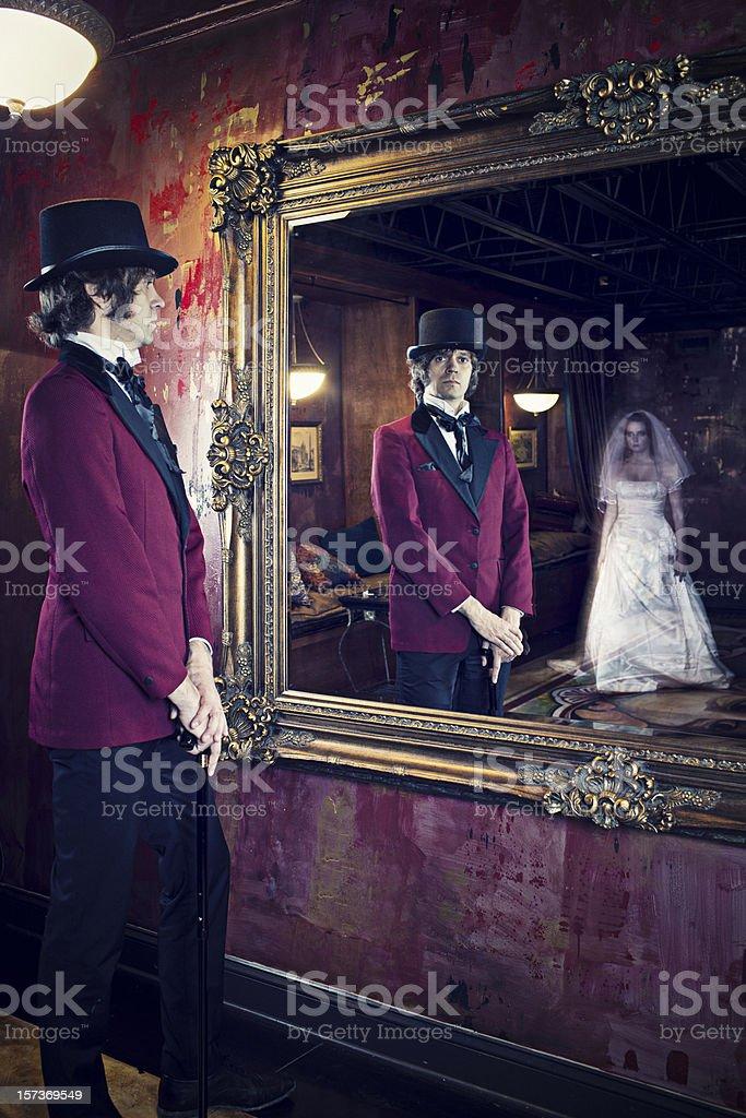 Dead bride stock photo