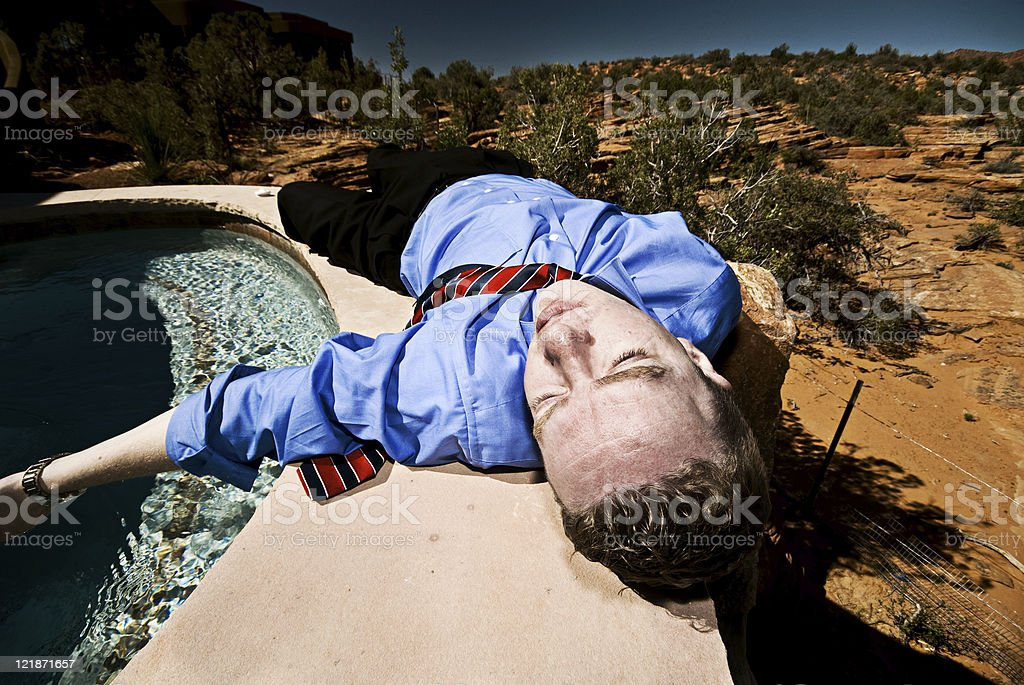 Dead Businessman royalty-free stock photo