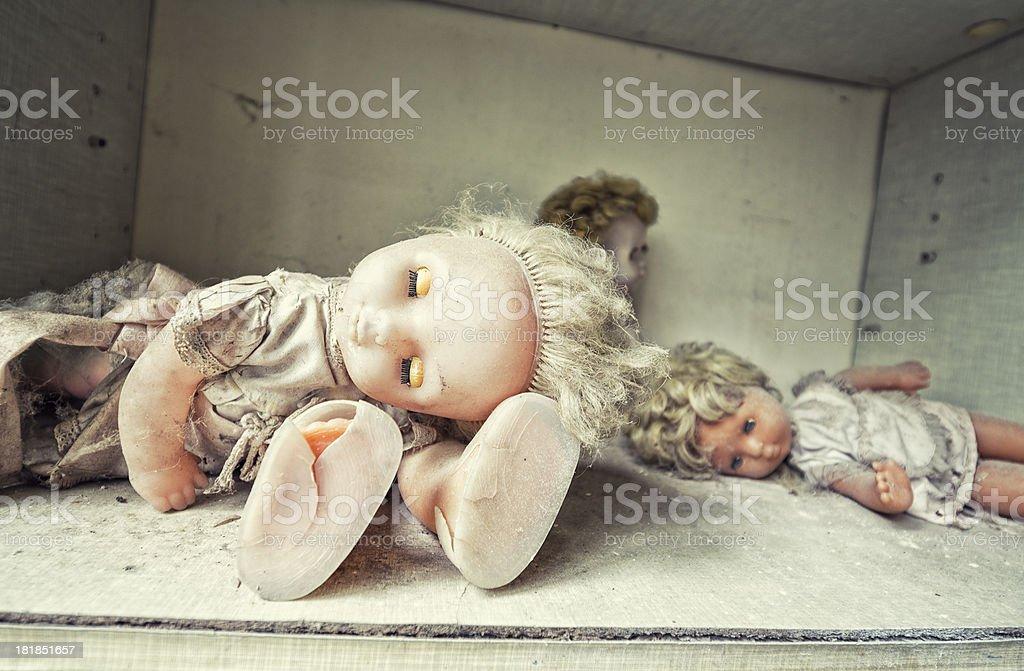 Dead Dolls royalty-free stock photo