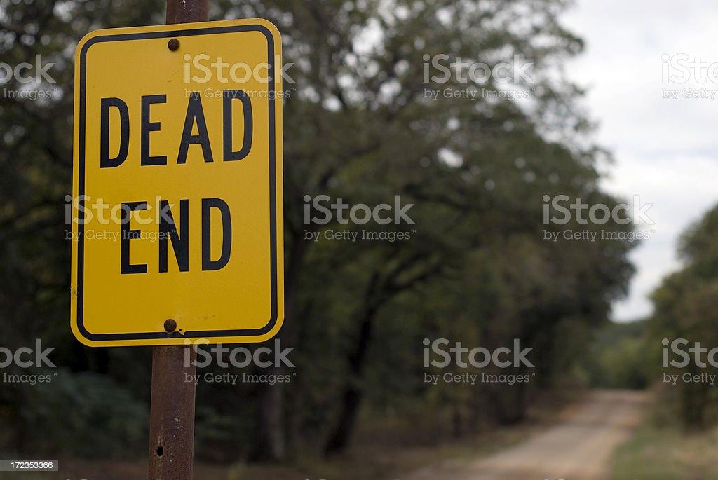 Dead End again stock photo