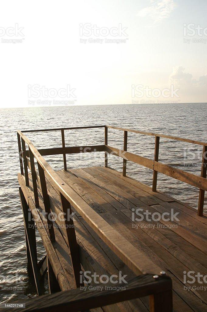 Dead End Beach Bridge royalty-free stock photo