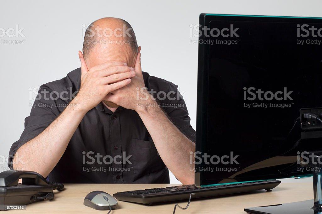 Dead end job stock photo
