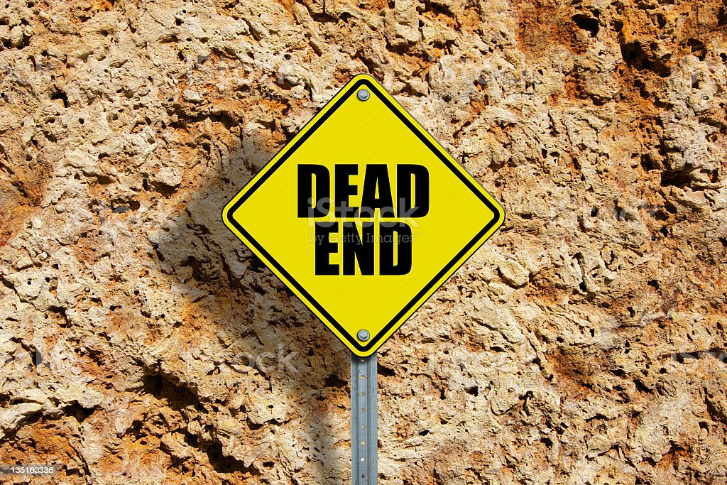 Dead End royalty-free stock photo