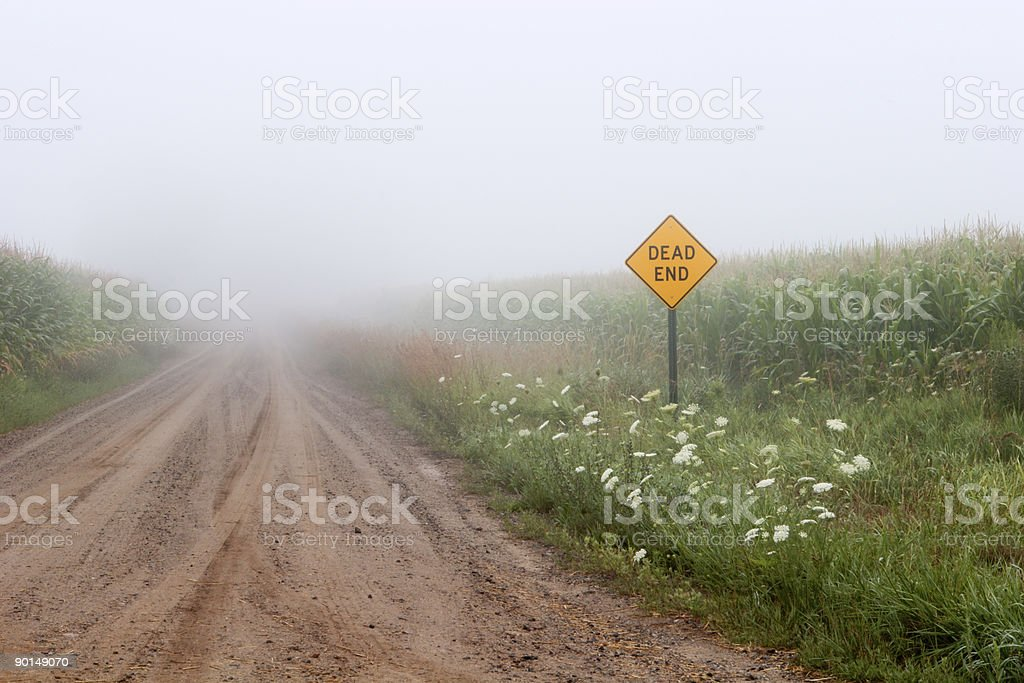 Dead End Road stock photo