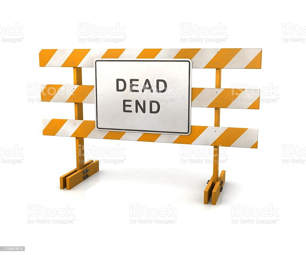 Dead End Sign Barricade royalty-free stock photo