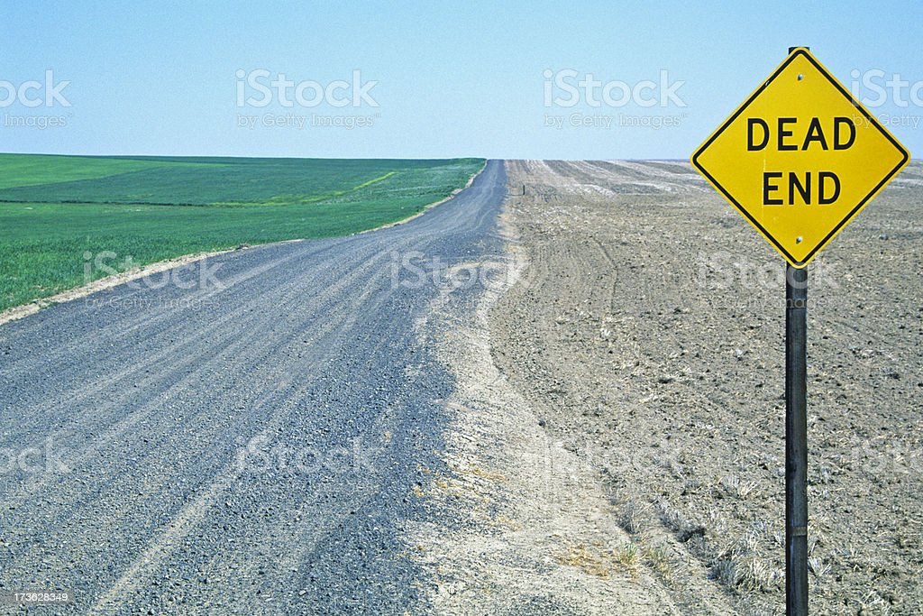 Dead End sign in rural Washington state stock photo