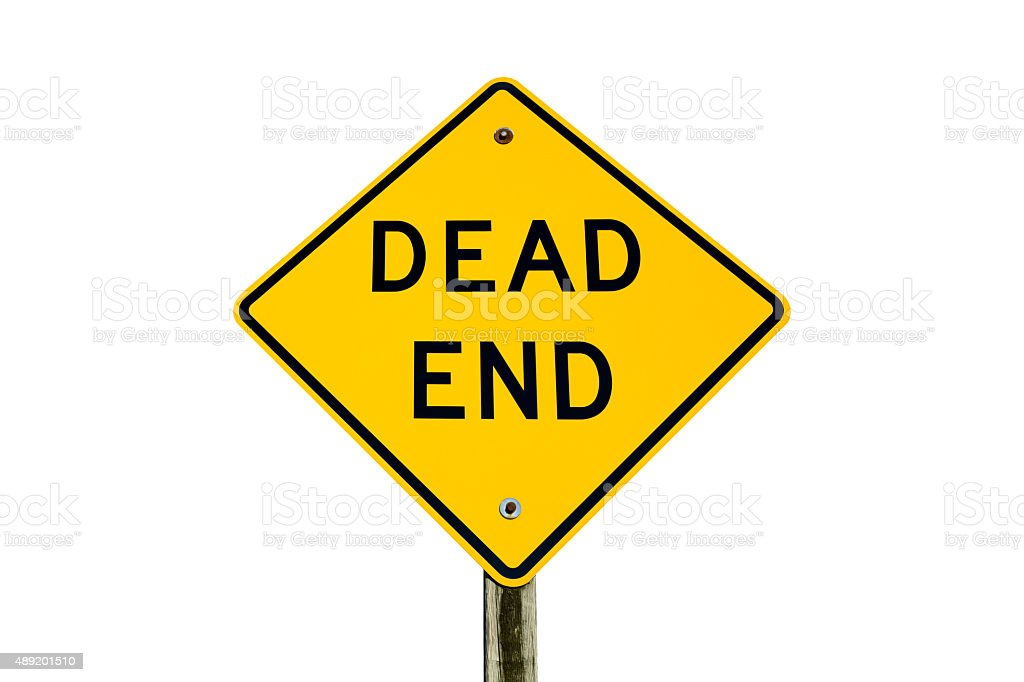 Dead End Sign Isolated on White stock photo