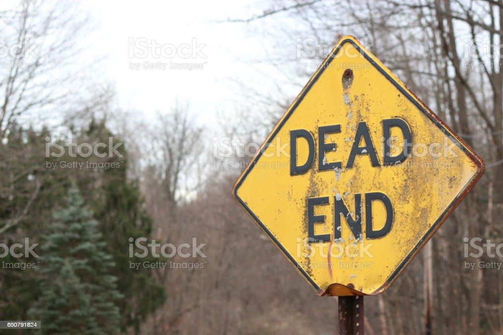 Dead End Sign (Horror) - Medium Shot stock photo