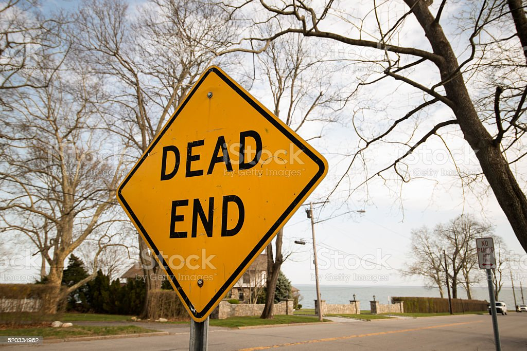 Dead End Sign stock photo
