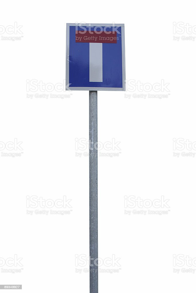 Dead end sign royalty-free stock photo