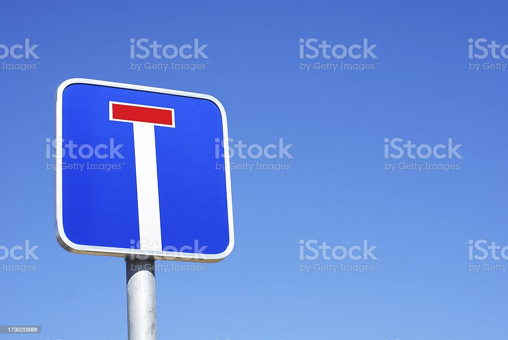 Dead end traffic sign with copy space stock photo