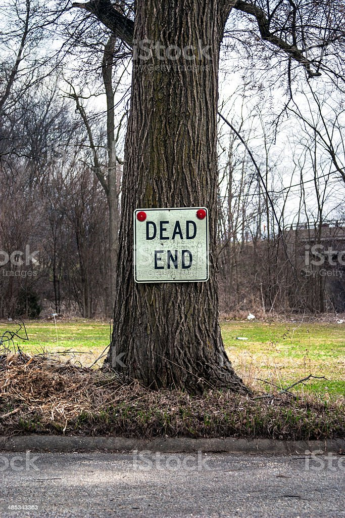 dead end tree royalty-free stock photo