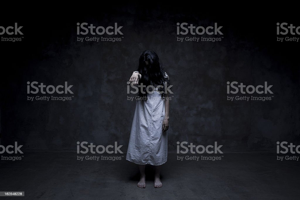 Dead girl stock photo