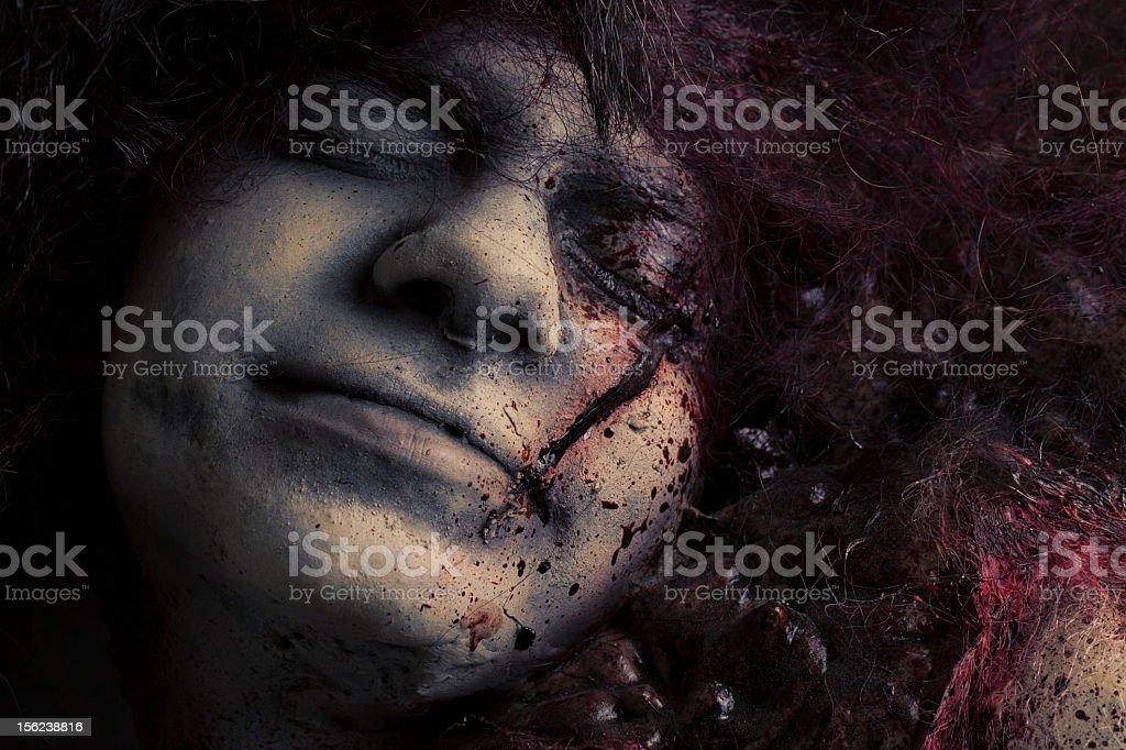 Dead Girl - Silicon Sculpture stock photo