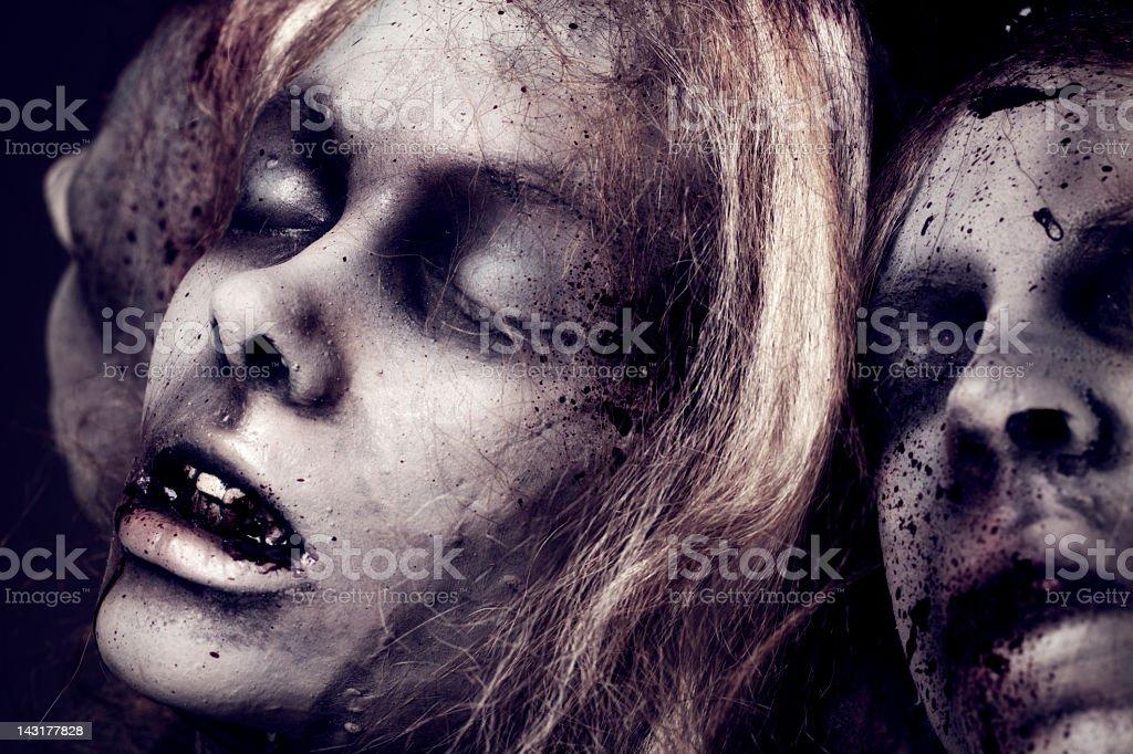 Dead Girls - Silicon Sculpture stock photo