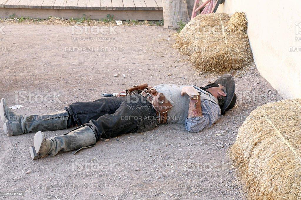 Dead gunslinger stock photo