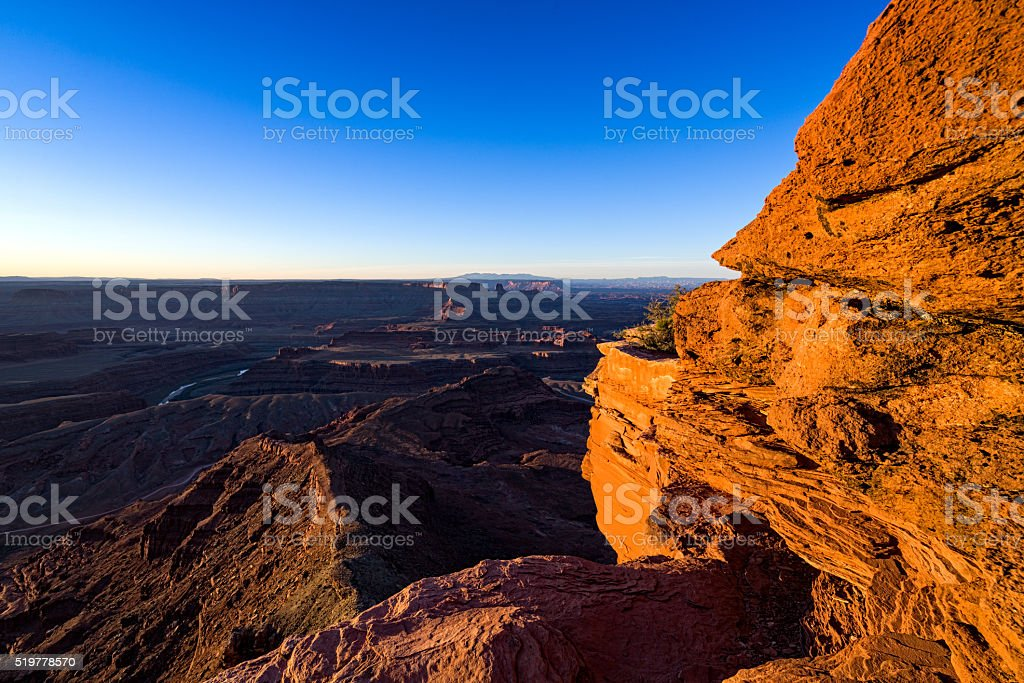 Dead Horse Point Canyonlands View stock photo