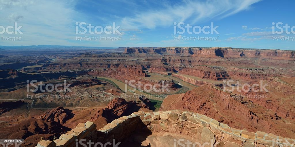 Dead Horse Point lookout stock photo