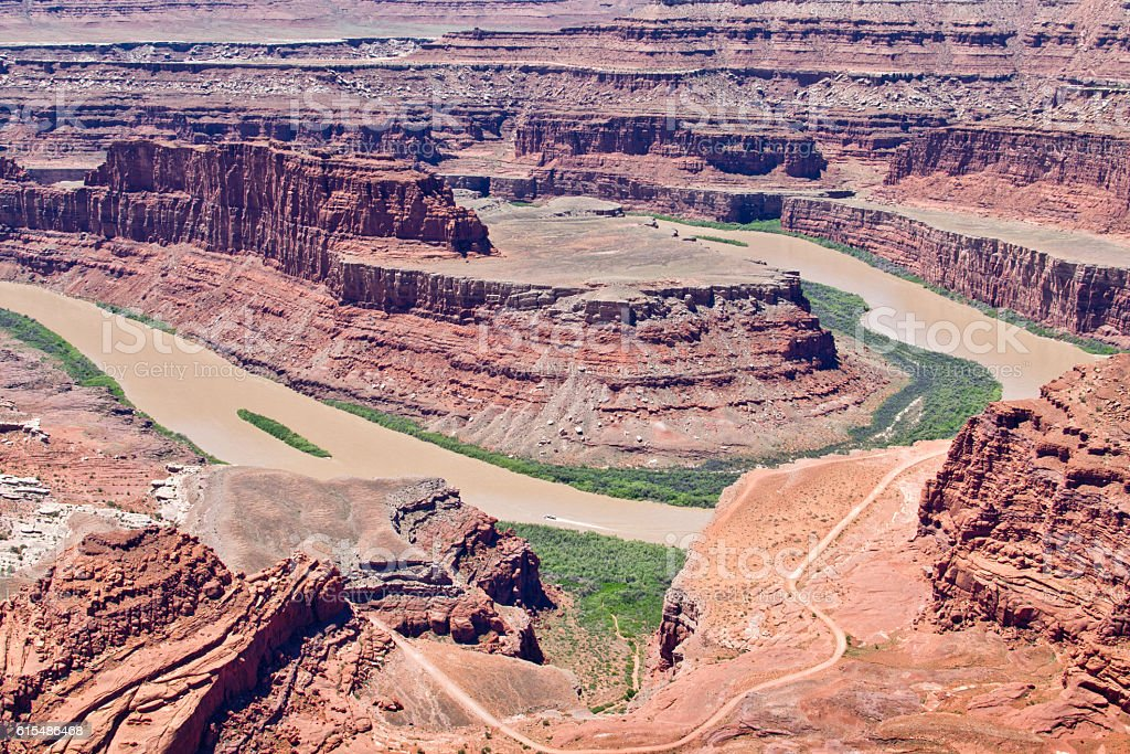 Dead Horse Point Overlook in Utah, North America stock photo