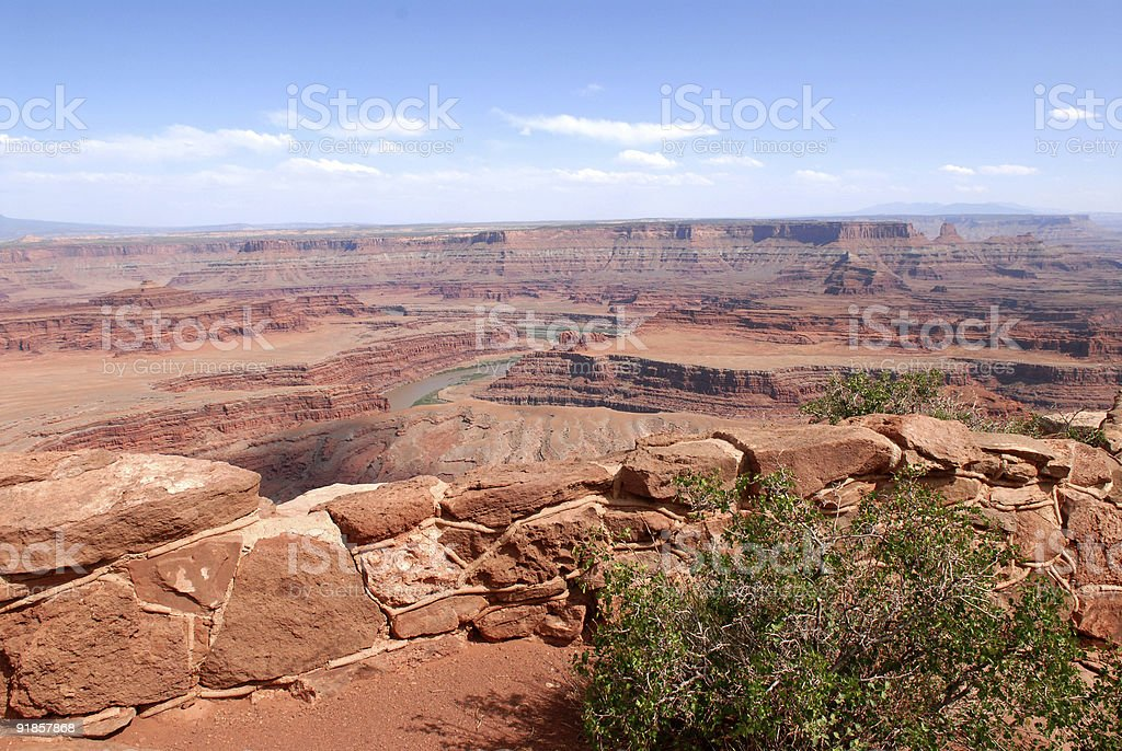 Dead Horse Point overlook royalty-free stock photo