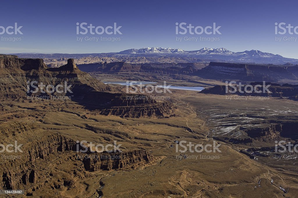 Dead Horse Point Scenic View Near Moab Utah royalty-free stock photo