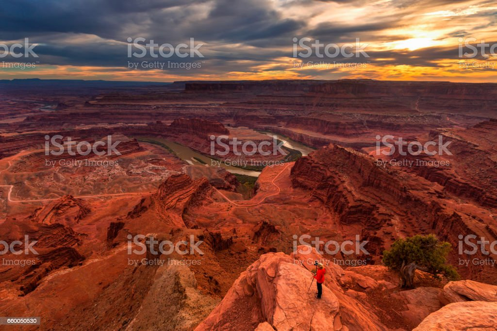 Dead Horse Point State Park, Canyonlands National Park, Utah, USA stock photo