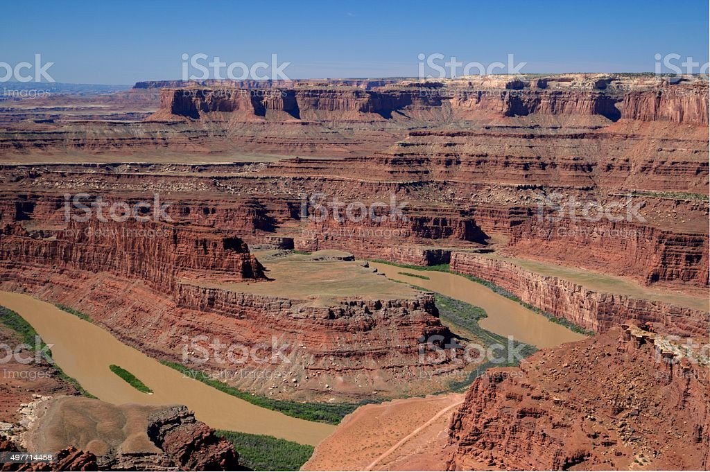 Dead Horse Point State Park- overview stock photo